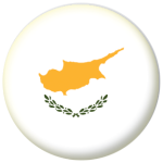 Cyprus Country Flag 25mm Fridge Magnet